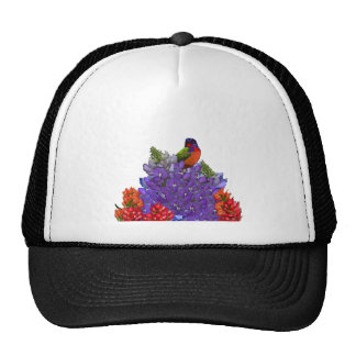 Painted Bunting on Bluebonnets Trucker Hat