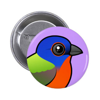 Painted Bunting Pinback Button