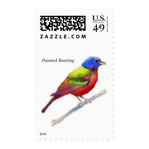 Painted Bunting Postage Stamps
