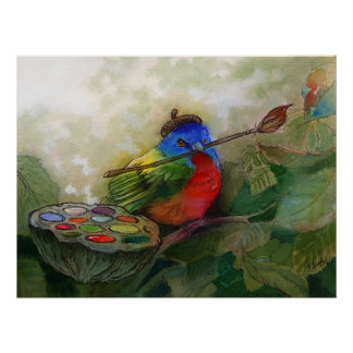 Painted Bunting Print