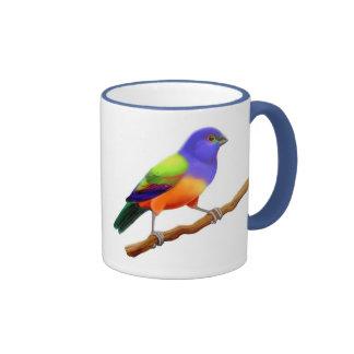 Painted Bunting Ringer Mug