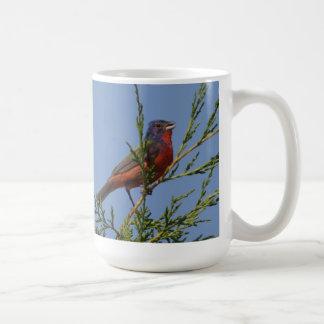 Painted Bunting Singing Coffee Mug