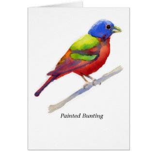Painted Bunting Stationery Note Card