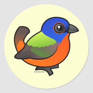 Painted Bunting Stickers