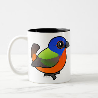 Painted Bunting Two-Tone Coffee Mug