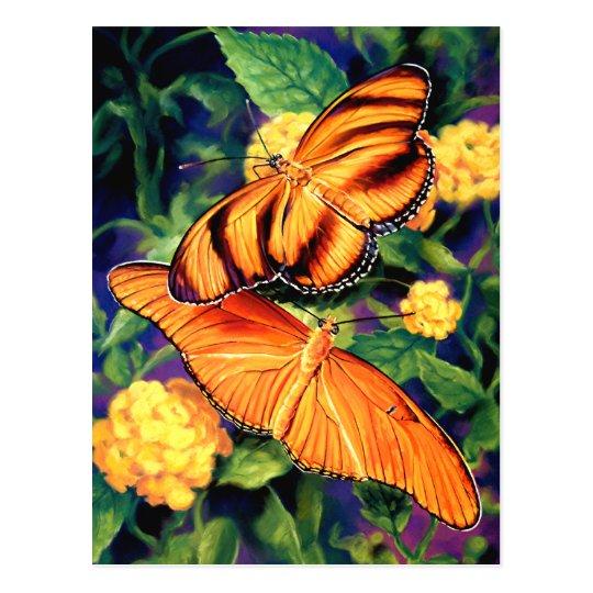 Painted Butterflies Postcard