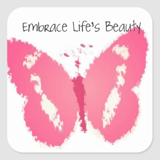 Painted Butterfly Beauty Stickers