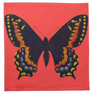 Painted Butterfly Cloth Napkin