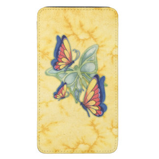 Painted Butterfly Collage Cell Phone Case Galaxy S5 Pouch