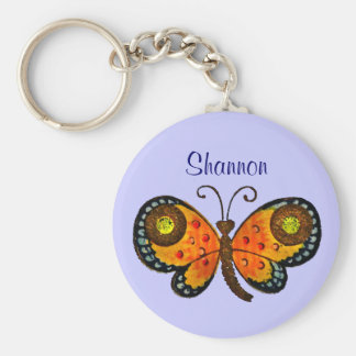 Painted Butterfly Personalized Key Chain