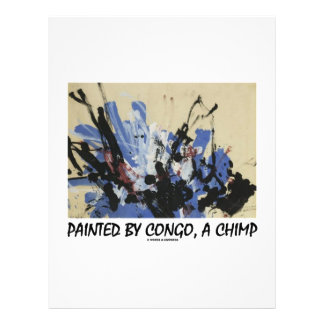 """Painted By Congo, A Chimp 8.5"""" X 11"""" Flyer"""