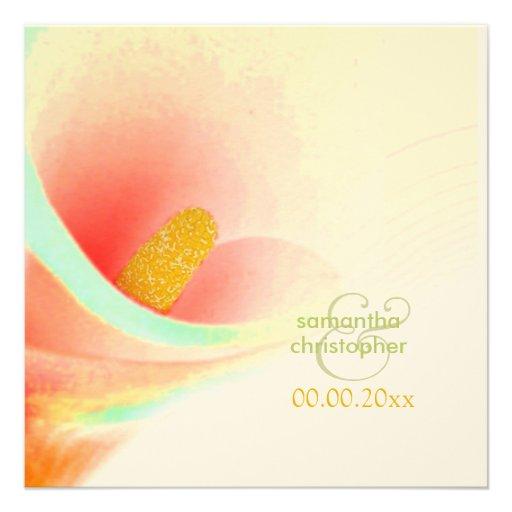 Painted Calla lily/wedding Invitations
