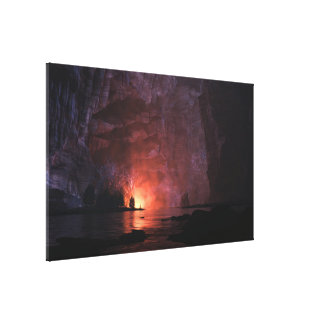Painted Canyon (Night) Canvas Print