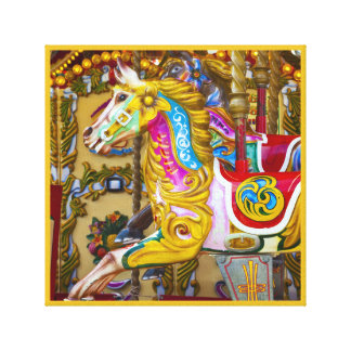 Painted Carousel Horse canvas
