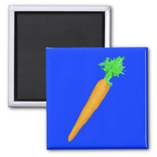 Painted Carrot 2 Inch Square Magnet