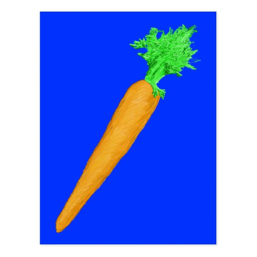 Painted Carrot Postcard