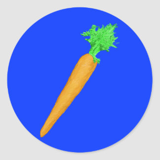 Painted Carrot Round Stickers