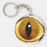 Painted Cat's Eye Basic Round Button Keychain