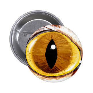 Painted Cat's Eye Pinback Button