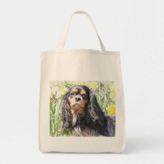 Painted Cavalier King Charles Spaniel Tote Bag