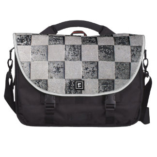 Painted Checkerboard Laptop Commuter Bag