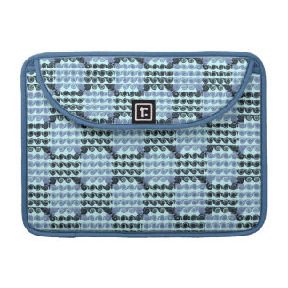 Painted Checkered Swirls (Blue) Sleeve For MacBook Pro
