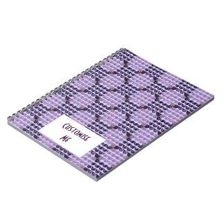 Painted Checkered Swirls (Purple) Notebook