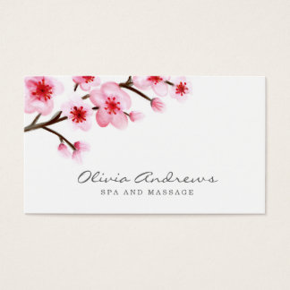 Painted Cherry Blossoms Business Cards
