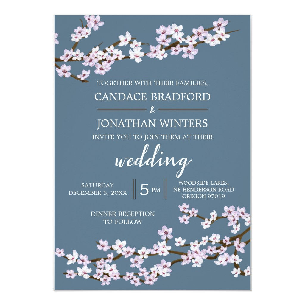 Painted Cherry Blossoms Wedding