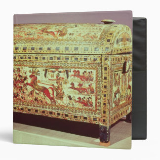 Painted chest depicting king on chariot 3 ring binder
