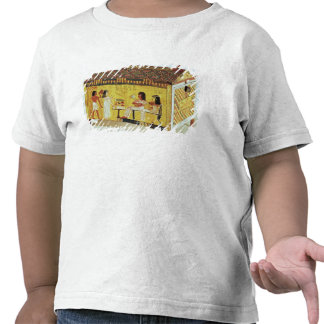 Painted chest with a banquet scene tshirt
