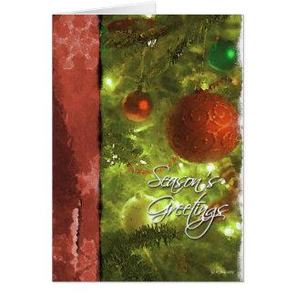 Painted christmas Bulbs-Season's Greetings Greeting Cards