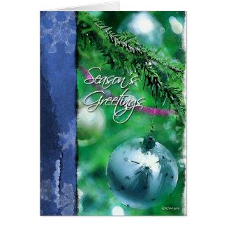 Painted christmas Bulbs-Season's Greetings Greeting Card