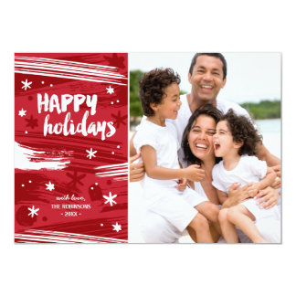 Painted Christmas | Modern Holiday Photo Card