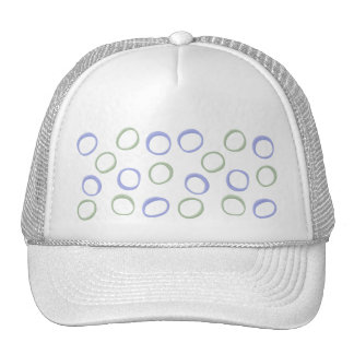 Painted Circles lavender Hat