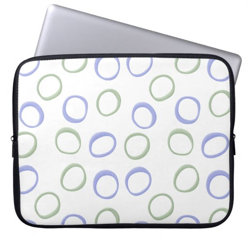 Painted Circles lavender Laptop Sleeve