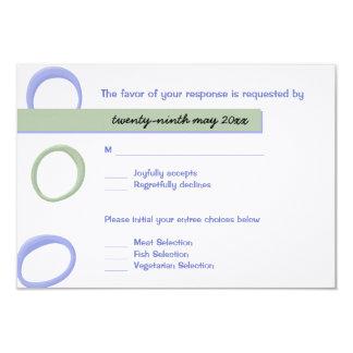 Painted Circles lavender Wedding RSVP Card