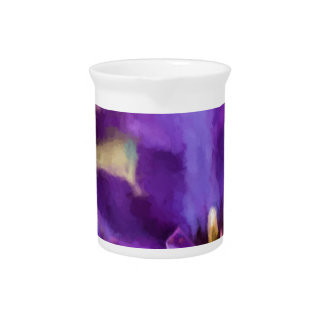 Painted Clematis Beverage Pitcher
