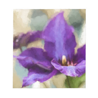 Painted Clematis Memo Note Pad