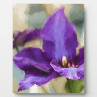 Painted Clematis Plaque