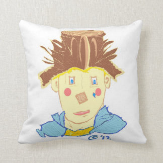 Painted Clown Throw Pillow