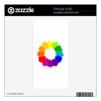 Painted Color Wheel Artist and Art Teacher Decals For iPhone 4S