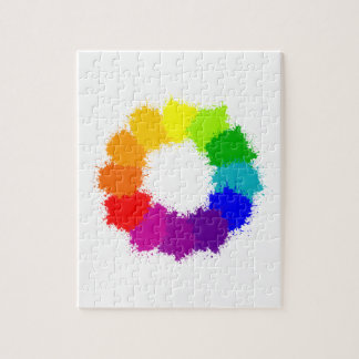 Painted Color Wheel Artist and Art Teacher Jigsaw Puzzle