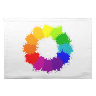 Painted Color Wheel Artist and Art Teacher Placemat