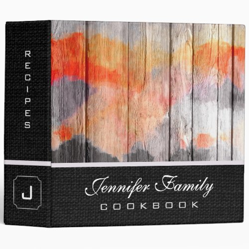 Painted Color Wood Family Recipes