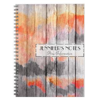 Painted Colors Wood Look #10 Notebook