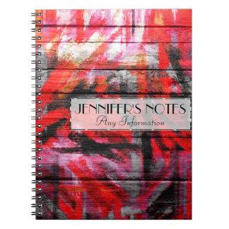 Painted Colors Wood Look Notebook