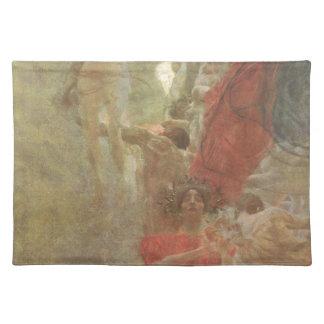 Painted composition design to medicine Gustav Klim Cloth Placemat