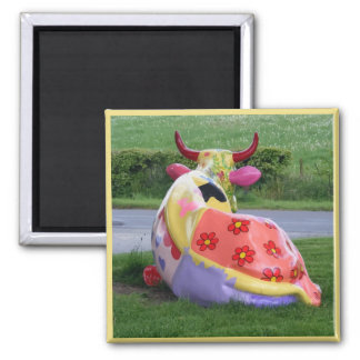 Painted Cow Magnet