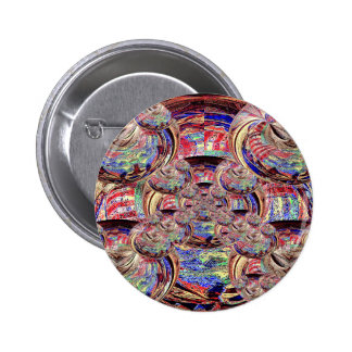 Painted Cow Skull Pinback Button